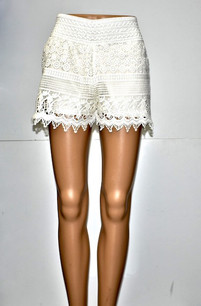 SH-02 White Lace Short