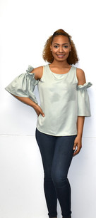 10863 Sage Open Shoulder Top