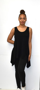 1389 Black Solid Tank Tunic