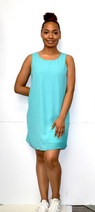 4031 Turq Fully Lined Tank Dress