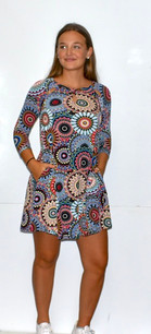 37022 Blue/Black Circle Dress