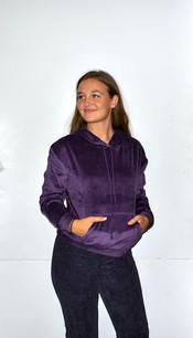 18A474 Dark Purple Hooded Top