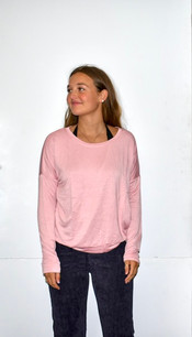 18248 Pink Light French Terry Top