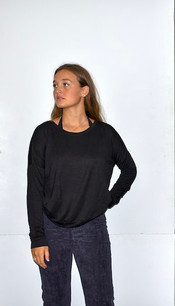 18248 Black French Terry Top