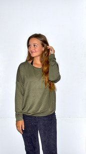 18248 Green French Terry Top