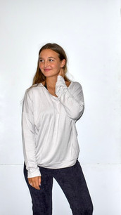 18248 Light Grey French Terry Top