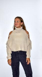 11263 Tan Open Sleeve Sweater Top