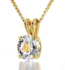 Clear Gold Virgo necklace from Inspirational Jewelry