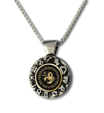 Black Inspirational Jewelry Scorpio Zodiac Wheel Necklace