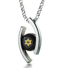 Black Inspirational Jewelry Diana Silver Star of David Necklace