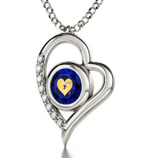Inspirational Jewelry Cupid's Got You Silver Heart Necklace