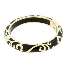 Scroll Black and Gold bracelet from Hamilton Crawford Jewelry