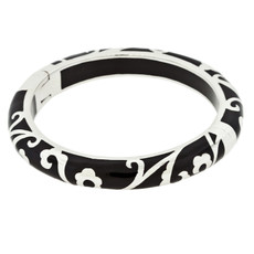 Andrew Hamilton Crawford Black Scroll Black and Silver Bracelet