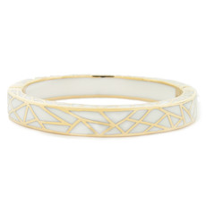 Hamilton Crawford Kaleidoscope White and Gold Bracelet