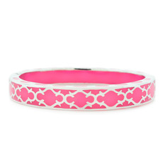 Andrew Hamilton Crawford Pink Bracelet Harmony Hot Pink and Silver