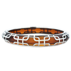 Brown Sailor Amber and Silver bracelet from Hamilton Crawford Jewelry