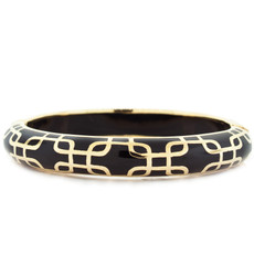 Andrew Hamilton Crawford Sailor Black and Gold Bracelet