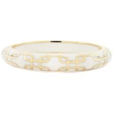 White Hamilton Crawford Jewelry Sailor White and Gold Bracelet