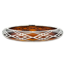 Hamilton Crawford Bracelet Waves of Electricity Amber and Silver