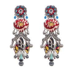 Black Ayala Bar Maya post Earrings