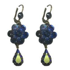 Michal Negrin Dark Blue shade Crystal Earrings