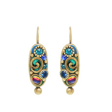 Blue Emerald earrings from Michal Golan Jewelry