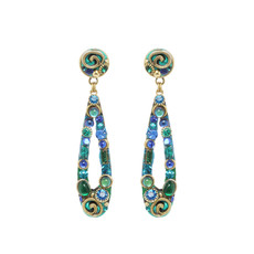 Blue Emerald earrings by Michal Golan Jewelry