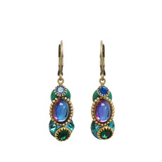 Blue Emerald style earrings by Michal Golan Jewelry