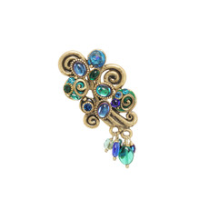 Michal Golan Jewelry Emerald Blue Pin