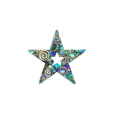 Blue Michal Golan Jewelry Emerald Pin