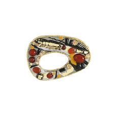 Michal Golan Jewelry Abstract Red Pin