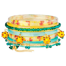 Orna Lalo And I'm Feeling Good Yellow Aqua Bangle