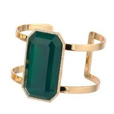 Marcia Moran Liquid Gold Green Onyx Cuff Bracelet