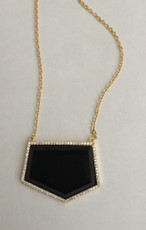 Black Marcia Moran Jewelry Geometric Shaped Style Necklace