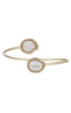 Marcia Moran White Bracelet Two Circles
