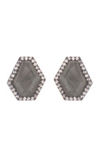 Grey Reese Post earrings from Marcia Moran Jewelry