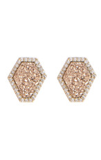 Pink Reese Post style earrings by Marcia Moran Jewelry