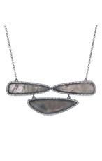 Grey Marcia Moran Sage Necklace
