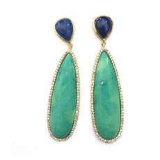 Marcia Moran Mirabelle Turqoise Lapis Earrings earrings by Marcia Moran Jewelry