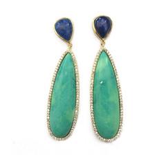 Marcia Moran Mirabelle Turqoise Lapis Earrings earrings by Marcia Moran Jewelry
