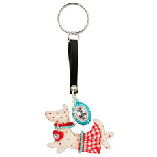 White Orna Lalo Jewelry Roxy The Dog Keychain