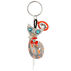 Gray Orna Lalo Jewelry Scarlet The  Cat Style Keychain