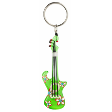 green Peace guitar style keychain by Orna Lalo Jewelry