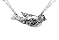Silver Spoon Precious Bird Necklace