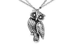 Silver Spoon Barn Owl Necklace