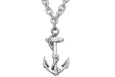 Silver Spoon Anchor Necklace