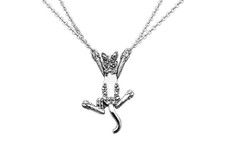 Silver Spoon Curious Cat Necklace