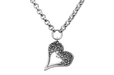 Silver Spoon Florentine Heart Necklace