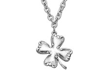 Silver Spoon Clover Necklace