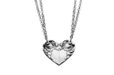 Silver Spoon Colonial Shell Heart Necklace